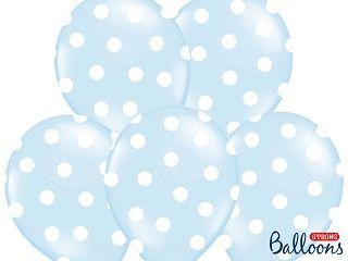 Ballon Dots Hellblau/6