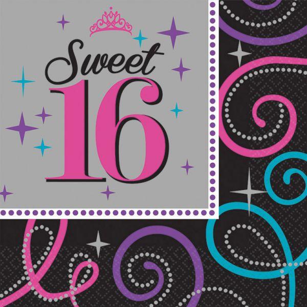 Sweet 16 - Servietten