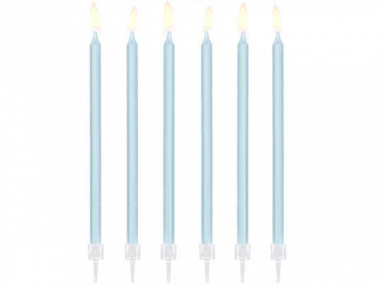Kerzen hellblau 14 cm