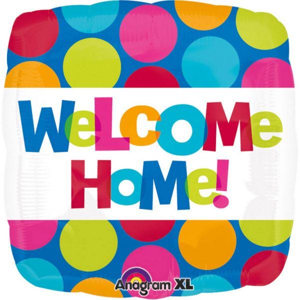 Welcome Home - Bunt Folienballon 45 cm