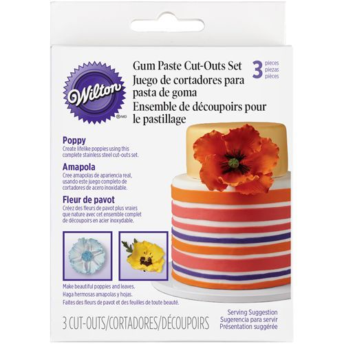 Wilton Cut Outs Poppy-Set/3