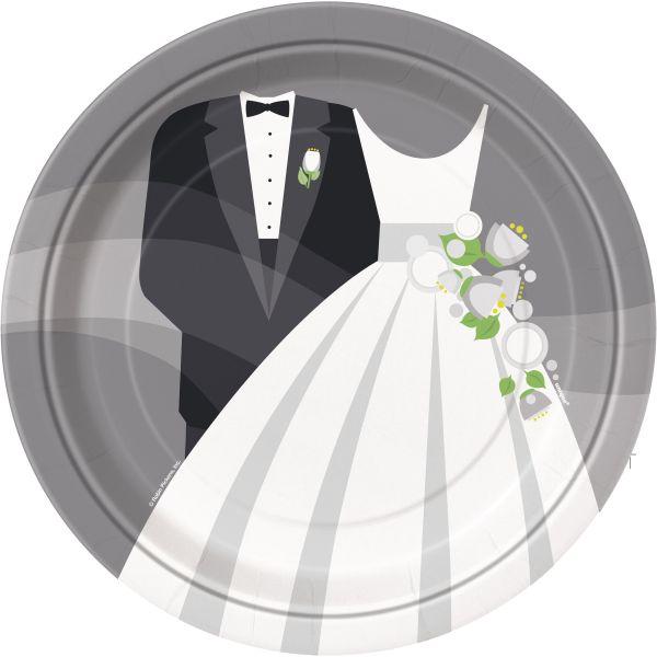 Silver Wedding 8 Pappteller 23 cm