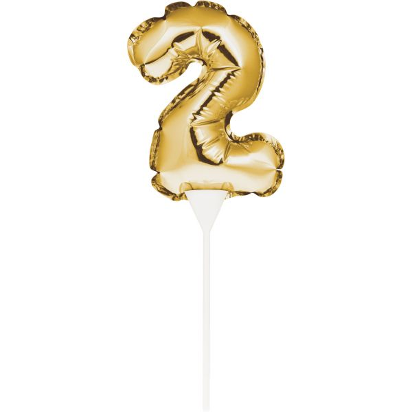 Cake Topper Zahl 2 Air-Filled