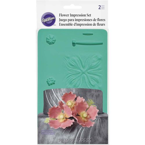 Silikonform Flower Impression Mat