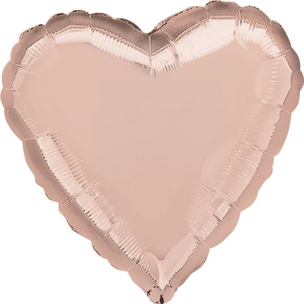 Herz Rose Gold Folienballon 43 cm