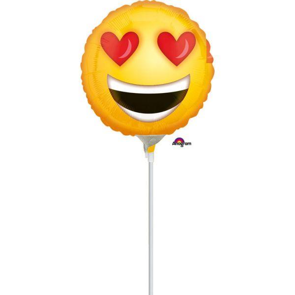 Emoji love Mini-Folienballon