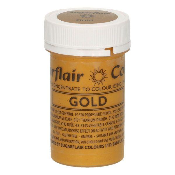 Sugarflair Pastenfarbe Satin - Gold