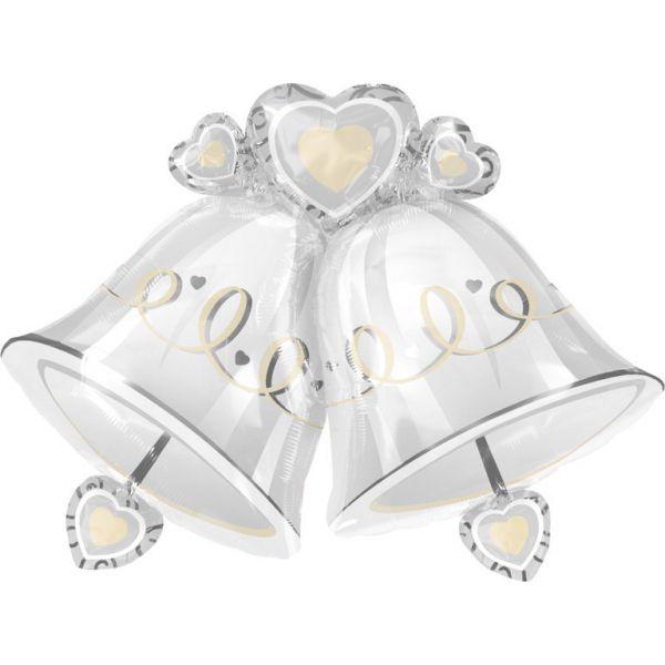 Hochzeitsglocken Folienballon 43 cm
