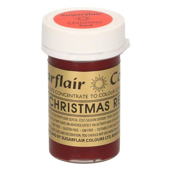 Sugarflair Pastenfarbe - Christmas Red