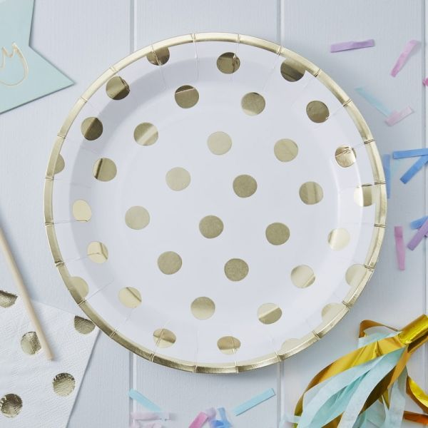 Gold Foiled Dots Papptell Pick And Mix