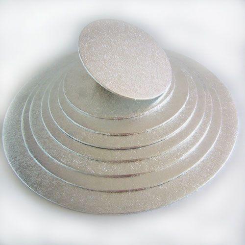 Cake Board-Silber-Rund 12,5 cm