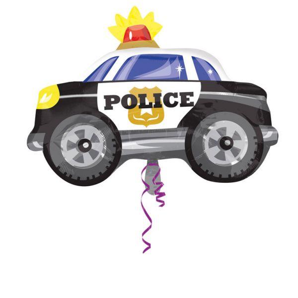 Polizeiauto Folienballon 60 X 45 cm