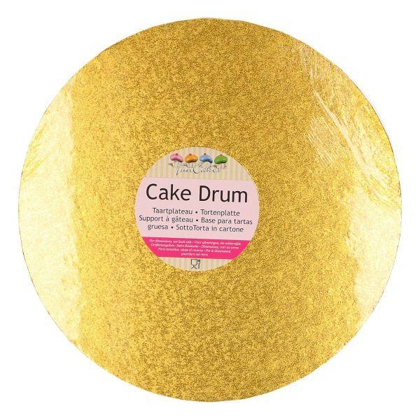 Cake Drum Gold-Rund 25 cm