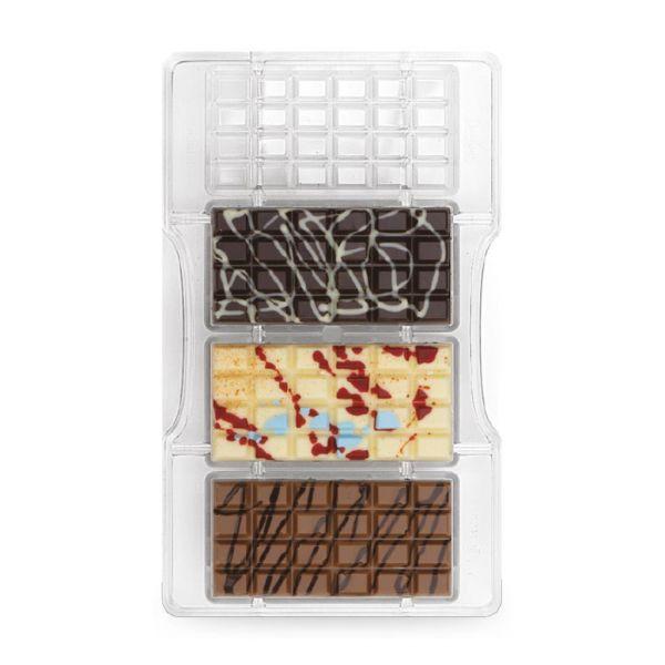 Schokoladenform klassische Tafel klein