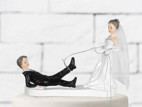 Brautpaar Lustig mit Seil
