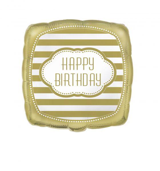 Golden Birthday Folienballon 45 cm