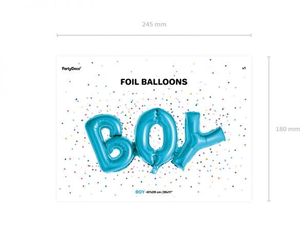 Boy Folienballon Air Filled 67 X 29 cm