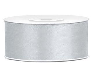 Satinband Silber