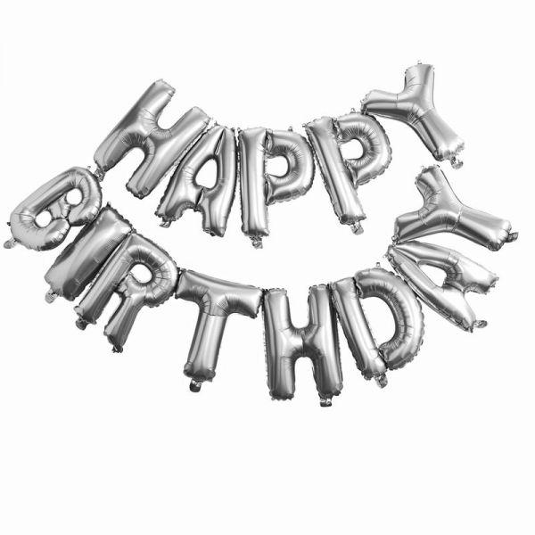 Happy Birthday Silber Folienballon Pick And Mix