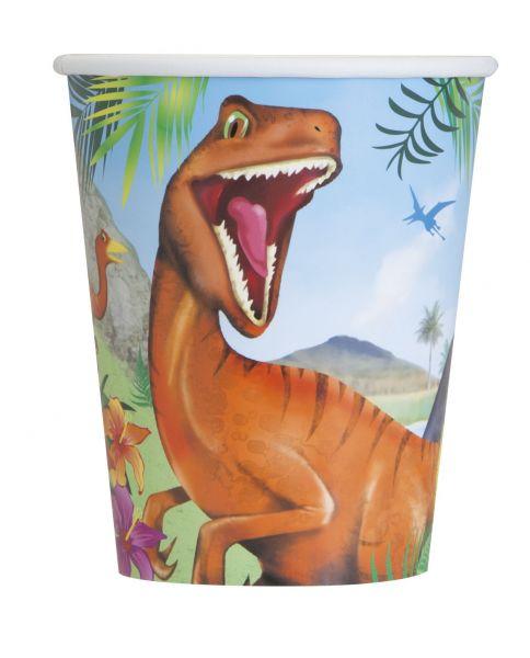 Dinosaurier 8 Pappbecher 266 ml