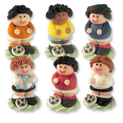 Zuckerfiguren Fußballer 6-teilig