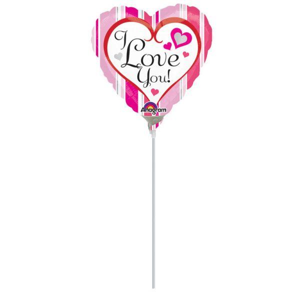 Herz Schriftzug Mini-Folienballon
