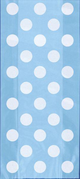 Cello Bag Powder Blue Dot 13 X 28 cm