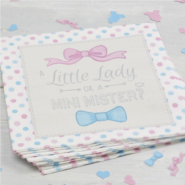 Servietten Little Lady Or Mini Mister