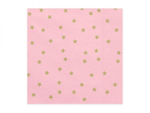 Servietten Stars light pink