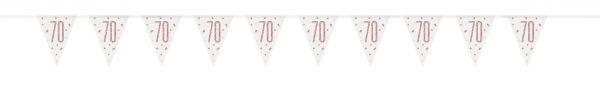 Birthday Glitz Rosegold Wimpelkette 70