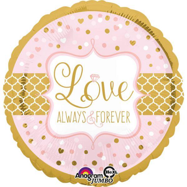 Love Always & Forever Folienballon 71 cm