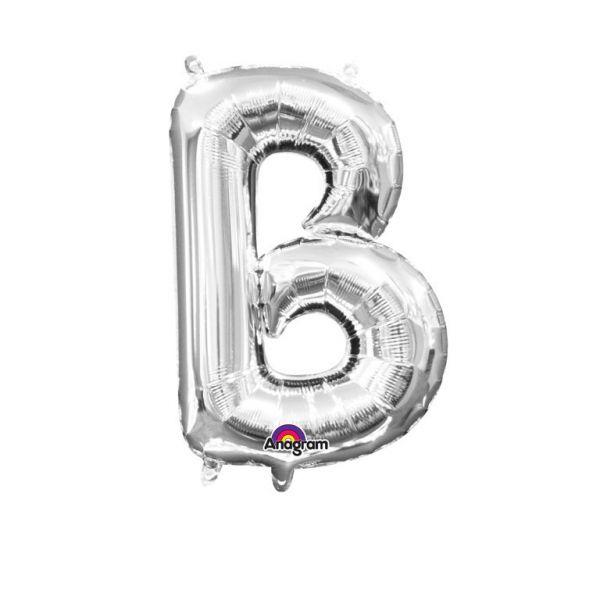 Mini Buchstabe Silber - B Folienballon 22 X 33 cm