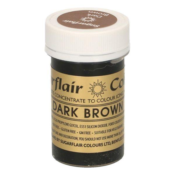 Sugarflair Pastenfarbe - Dark Brown