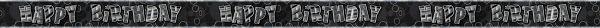 Happy B-Day Prisma Banner Black 274 cm