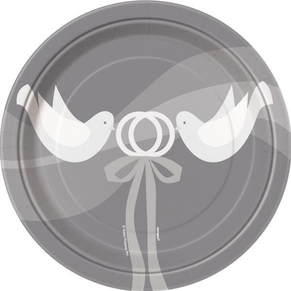 Silver Wedding 8 Pappteller 18 cm