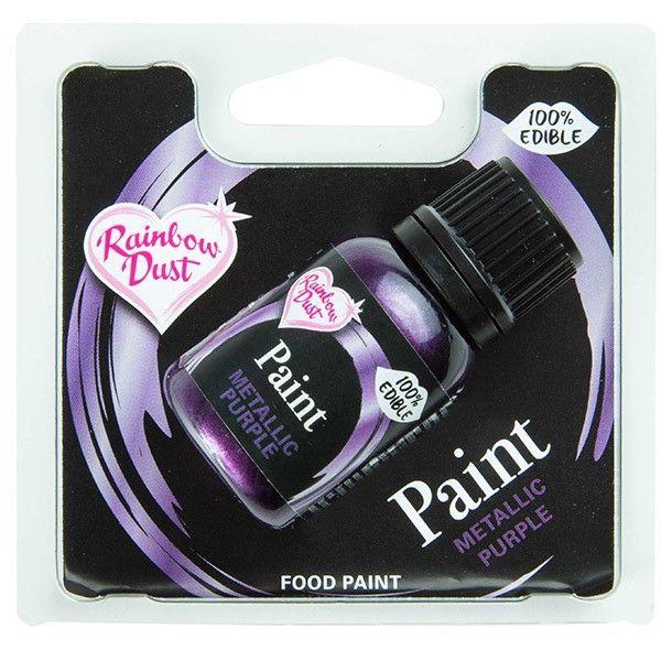 Metallic Food Paint Purple