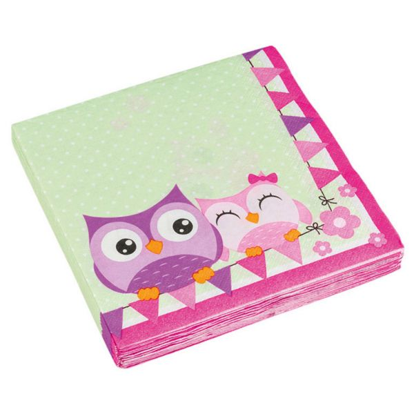 Happy Owl Servietten