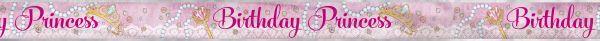 Pink Princess Birthday Folienbanner 365 cm