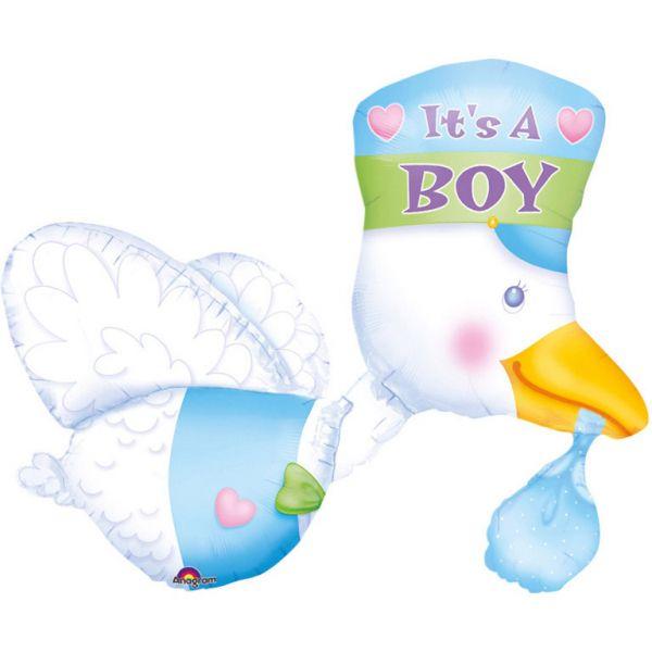 Its A Boy Storch Folienballon