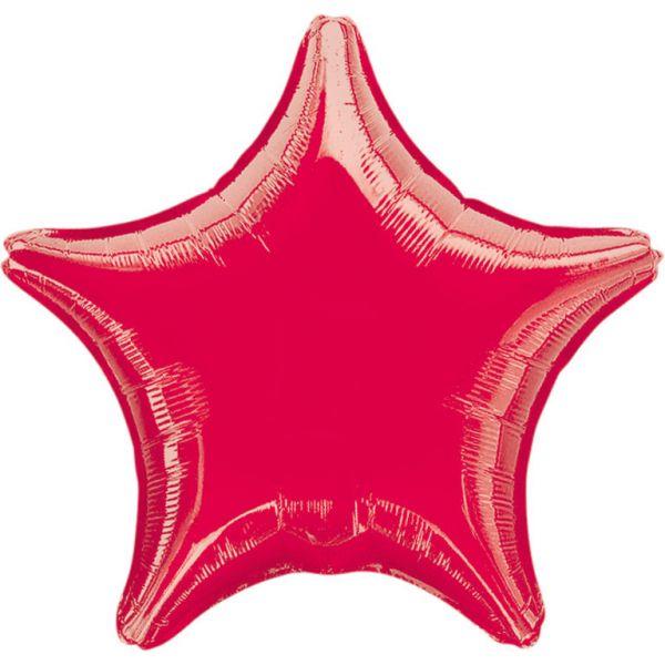 Stern Rot Metallic Folienballon 43 cm