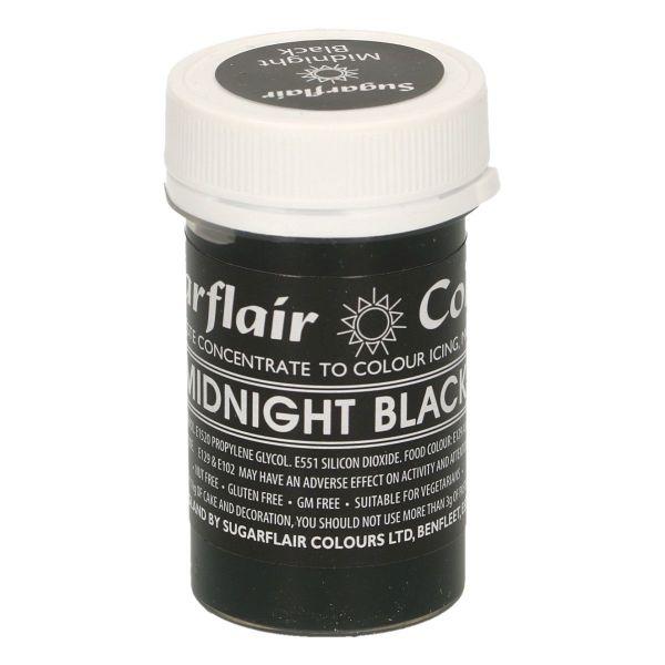 Sugarflair Pastenfarbe Pastel - Midnight Black
