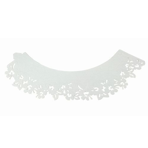 Cupcake Wrapper Flowers White