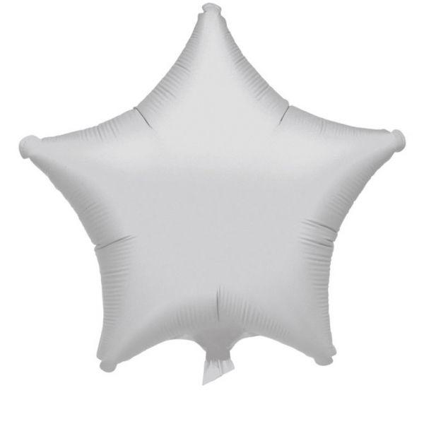 Star Metallic Silver Folienballon 43 cm