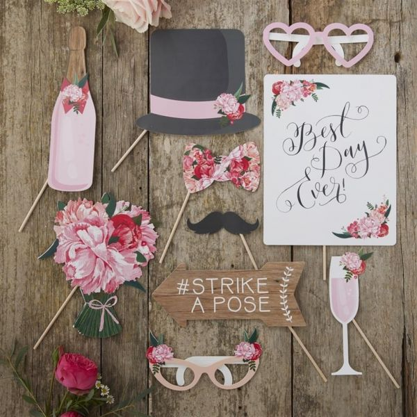 Wedding Photo Booth Props Boho