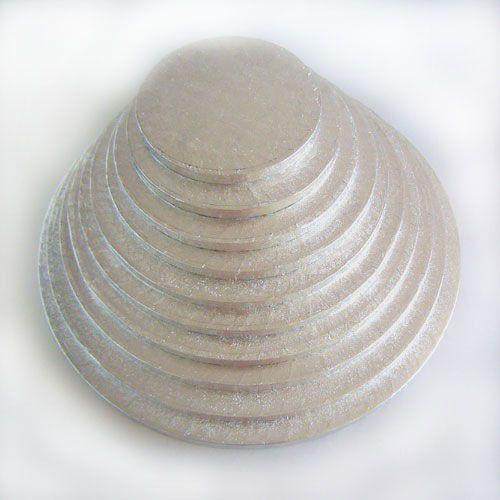Cake Drum-Silber-Rund 33 cm
