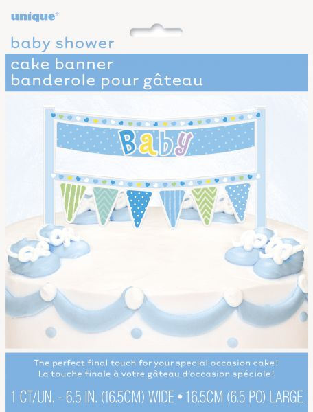 Cake Topper Baby Blau