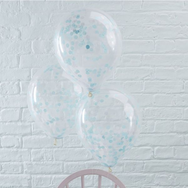 Blue Confetti Balloons Pick And Mix