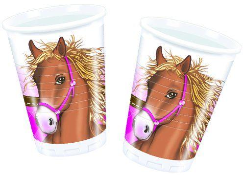Pferde, 8 Becher