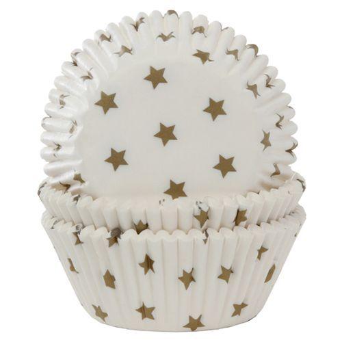 HOM Muffin Förmchen Sterne Gold