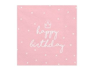 Servietten Happy B-Day pink
